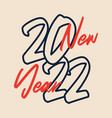 2022 new year calligraphic text christmas vector image