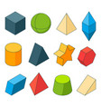 3d model geometry shapes colored pictures sets vector image