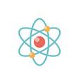 atom flat icon on white background vector image