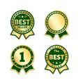 award ribbon the best seller set vector image vector image