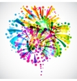 Background with bright colorful fireworks and vector image vector image