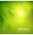 background with palm branches vector image vector image
