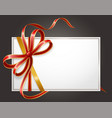 blank icon with shiny ribbon and bow sign vector image