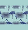 blue flamingo tropical composition seamless vector image