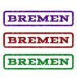 bremen watermark stamp vector image vector image