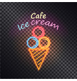 cafe ice cream multiclored vector image