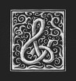 chalk ampersand hand-drawn on grunge vector image vector image