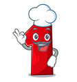 chef number one index finger on cartoon vector image