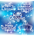 Christmas handwriting typography vector image vector image