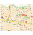 city map downtown san jose costa rica vector image vector image