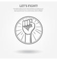 Clenched Fist Poster vector image