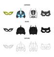 design of hero and mask symbol set of hero vector image vector image