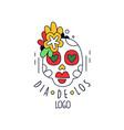 dia de los logo mexican day dead holiday vector image vector image