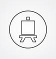 easel outline symbol dark on white background logo vector image vector image