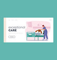 exceptional care landing page template elderly vector image vector image
