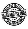 falkland islands black round grunge stamp vector image vector image