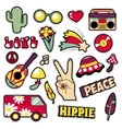 Fashion Hippie Badges Patches Stickers vector image vector image