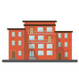flat buildings residential brick house city vector image vector image