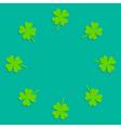 Four leaf clover round frame Empty Flat design vector image vector image