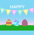 greeting card easter vector image vector image