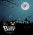 Halloween party scary design background vector image