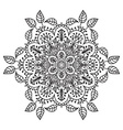 Hand drawing zentangle mandala element vector image vector image