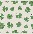 hand drawn green lucky shamrock and trefoil leaves vector image