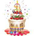 Happy Birthday cake 3 vector image