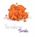 Happy holiday you macke me smile vector image vector image