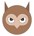head of owl in cartoon flat style vector image vector image