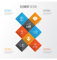 human icons set collection of deal bullhorn vector image vector image
