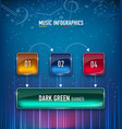infographics music concept realistic glass vector image