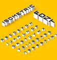 Isometric font vector image