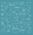 kitchen utensils vector image