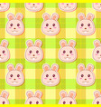 little rabbit pattern vector image vector image