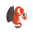 loving mother dragon and her baby cute winged vector image vector image