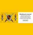 medieval arsenal banner horizontal concept vector image