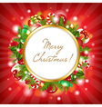 Merry Christmas Card With Garland vector image vector image