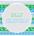 Merry Christmas greeting card27 vector image vector image