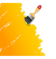 Paint brush with splash vector image vector image