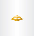 Pyramid logo icon design element