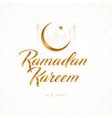 ramadan kareem greeting design vector image