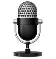 realistic retro microphone vector image vector image