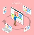 remarketing flat isometric concept vector image vector image