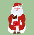 Santa Claus with candy vector image