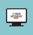 screensaver on computer cyber monday sale flat vector image vector image