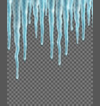seamless border with realistic icicles design vector image vector image