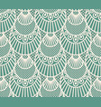 seamless decorative lace scales pattern on blue vector image vector image