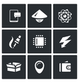 Set of Electronic Industry Icons vector image vector image