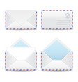 Set of white envelopes vector image vector image